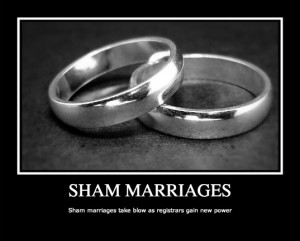 sham marriages  Crackdown